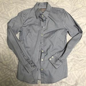 Fitted print banana republic button down